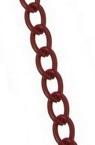 Lanț 5,5x3,5x1 mm roșu -1 metru
