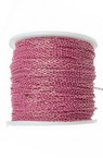 Lant 2,5x1,5x0,5 mm bicolor roz si auriu -1 metru