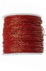 Lanț 2,5x1,5x0,5 mm în două tonuri roșu și auriu -1 metru