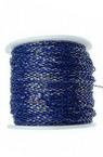 Lanț 2,5x1,5x0,5 mm albastru în două tonuri și aur -1 metru