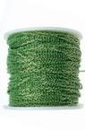 Lanț 2,5x1,5x0,5 mm bicolor verde și aur -1 metru