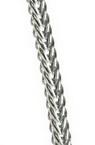 Lanț 3x2,5 mm argintiu -1 metru
