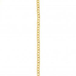 Αλυσίδα 6x4,4x1 mm χρυσό -1 μέτρου