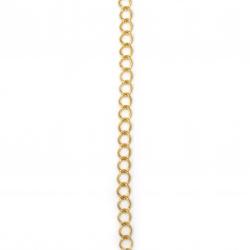 Lanț 9x7x1,5 mm culoare aurie -1 metru