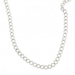 Синджир 9x7x1.5 мм цвят сребро -1 метър