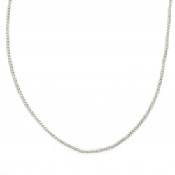 Lanț 3x2x0,6 mm culoare alb închis -1 metru