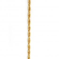 Αλυσίδα αλουμινίου 7,2x4,8 mm χρυσό -1 μέτρο