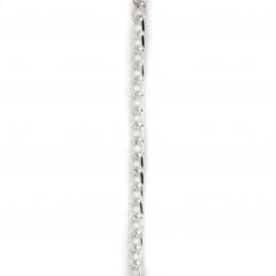 Αλυσίδα 11x6,5 mm λευκό -1 μέτρο