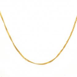 Синджир 2.5x1.7x0.3 мм цвят злато -1 метър