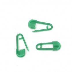 Acul secret din plastic 20x8 mm verde -50 bucăți