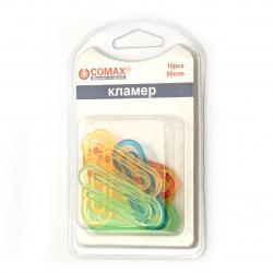 Cliamer de plastic de 50 mm colorate - 10 bucăți