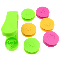 Cold Embossing Kit, 6 Attachments, 3/5 inch 15 mm