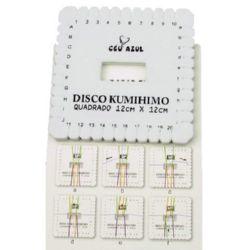 Disc Kumihimo pentru tricotat, kumihimo pătrat DIY Hobby - 12 x 12 cm