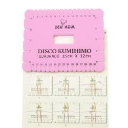 Диск Kumihimo за плетене, кумихимо правоъгълник -15 x 12 см