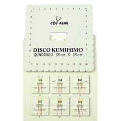Αργαλειός Kumihimo (δίσκος) τετράγωνο -15 x 15 εκ