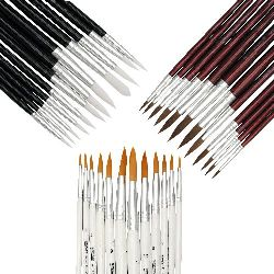 Set Painting Brushes Rounded - 12 pieces