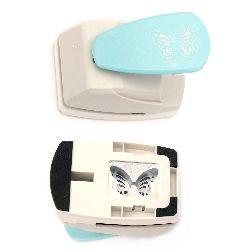 Perforator / punch/ Kamei detaliat 3D 43x30 mm pentru carton până la 160 g / m2 fluture