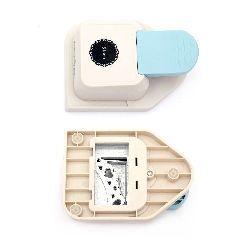 Puncher / punch /  bordură pentru carton 15x15 cm până la 160 g / m2 inimi cu motive în cerc