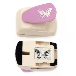Перфоратор /пънч/ детайлен 43x30 мм за картон до 160 гр/м2 пеперуда