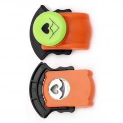 Перфоратор /пънч/ ъглов 25 мм за картон до 160 гр/м2 сърце