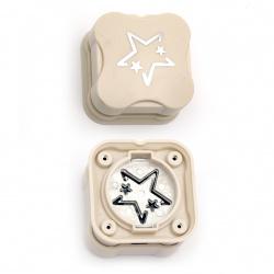 Перфоратор /пънч/ магнитен 38 мм за картон до 160 гр/м2 звезда