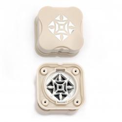 Перфоратор /пънч/ магнитен 38 мм за картон до 160 гр/м2 мотив етно