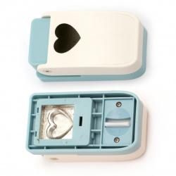 Перфоратор /пънч/ 25 мм за различни материали сърце