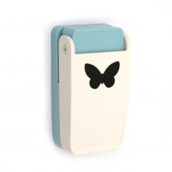 Punch Kamei 38 mm for various materials,  butterfly element for notebooks ornamentation, stamps, frames making