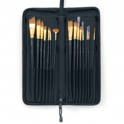 Set of professional brushes in a case - 15 pieces