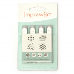 Печат за релеф метал 6x65 мм embossing Stamp ImpressArt графична шарка -1 брой
