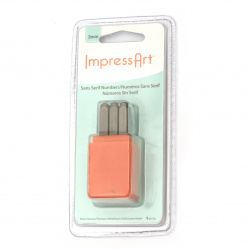 Комплект печат за релеф метал 6x65 мм embossing Stamp ImpressArt цифри -9 броя