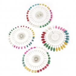 Știfturi 55 mm colorate MIX -30 bucăți