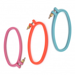 Plastic hoop for embroidery 11.4x22.8 cm