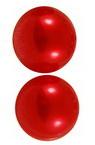 Perla emisferă 4x2 mm culoare roșu -500 bucăți