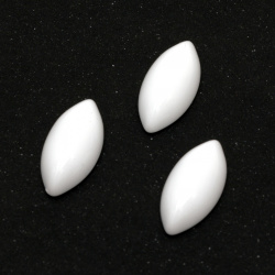 Cabochon Pearl Beads, Half Round for Gluing, DIY, Decoration, Scrapbooking, 20x10x5 mm white - 20 pieces