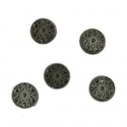 Θερμοκολλητικά στρας 6 mm ανάγλυφα μαύρο 100 τεμάχια