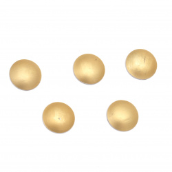 Element rotund metalic cu adeziv 8x2 mm culoare auriu mat - 50 de bucăți