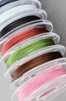 Steel Cord, Jewelry DIY Making 0.38 mm color assorte -10 meters