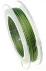 Корда стоманена 0.45 мм цвят зелена светло -10 метра