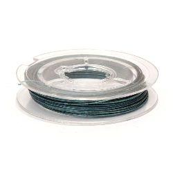 Cablu din oțel 0,45 mm culoare albastru deschis -10 metri