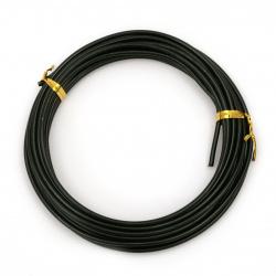 Σύρμα αλουμινίου χρώματος 2,5 mm μαύρο -5 μέτρα