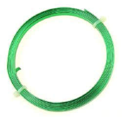 Craft Aluminium Wire 5x1 mm color green -2 meters