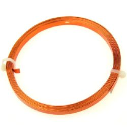 Craft Aluminium Wire 5x1 mm color copper -2 meters