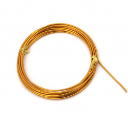 Aluminum wire 2 mm color orange light -3 meters