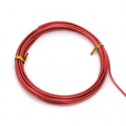 Aluminum wire 2 mm color red -3 meters