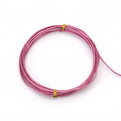 Aluminum wire 2 mm cyclamen color -3 meters