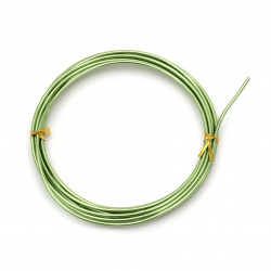 Aluminum wire 2 mm green -3 meters