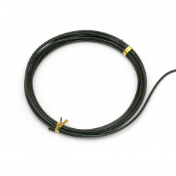 Aluminum wire 2 mm color black -3 meters