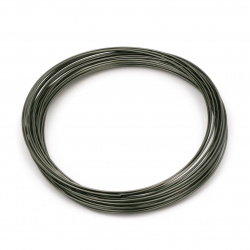 Aluminum wire 1 mm color gray green melange -10 meters