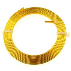 Aluminium Wire 3x1 mm color gold -2 meters